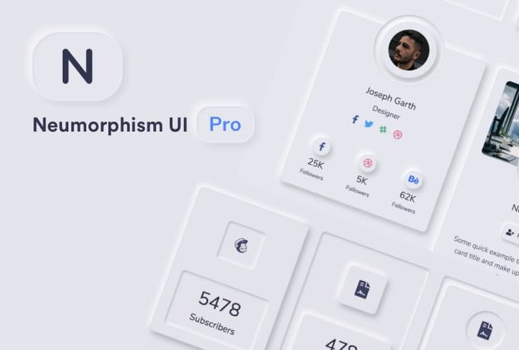 Neumorphism UI PRO Bootstrap UI Kit