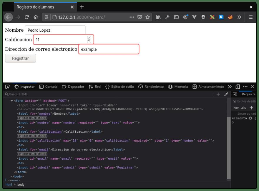 App y codigo HTML