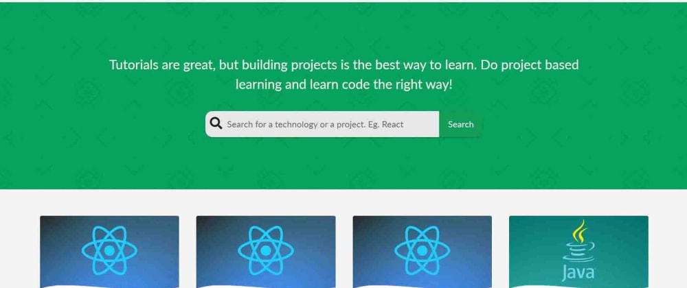 Cover image for Introducing ProjectLearn.io - Project Based Learning