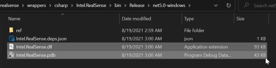 C# wrapper library files