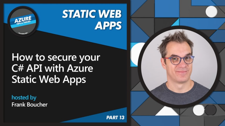 How to secure your C# API with Azure Static Web Apps