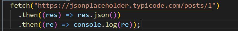 Fetch syntax