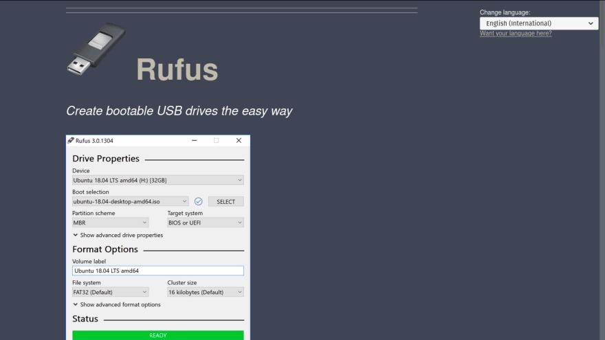 Rufus website