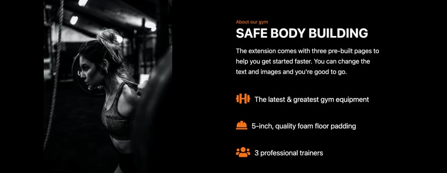 Gym Website - Tailwind Starter Kit