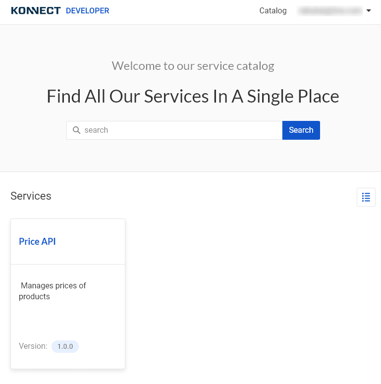 List of services available to developers