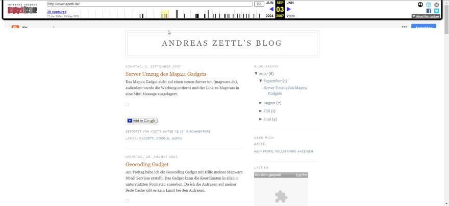azettl.de 2007 Blogger