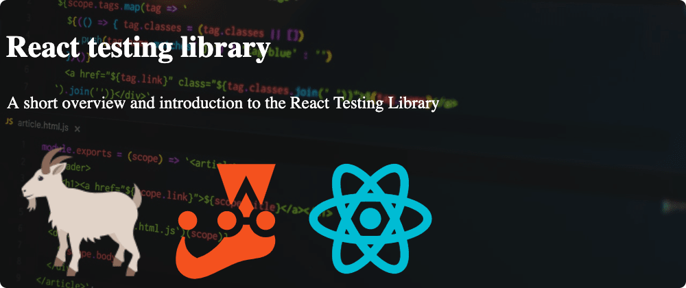 Cover image for React Testing Library