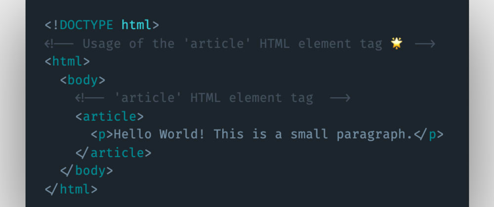 Cover image for Which HTML element tag can be used to represent and show articles or reusable content to the user?