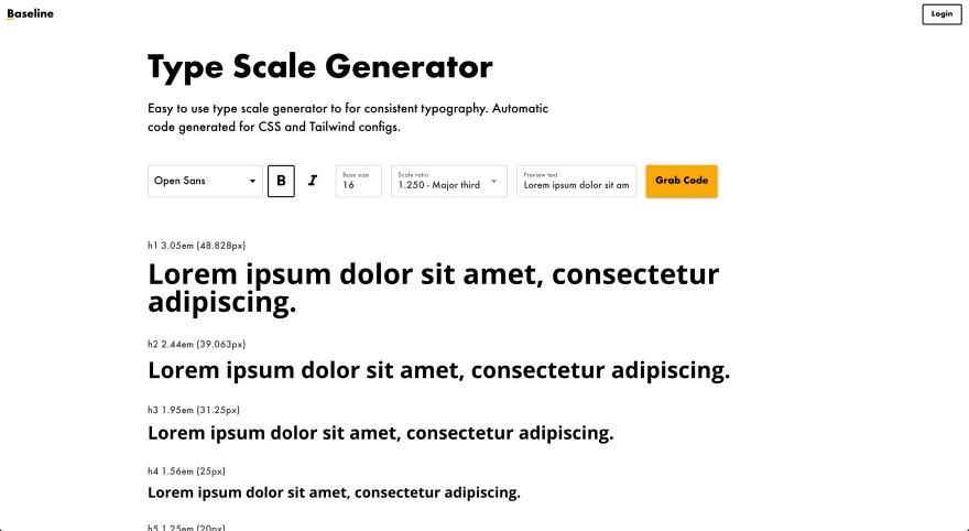 Type Scale Generator