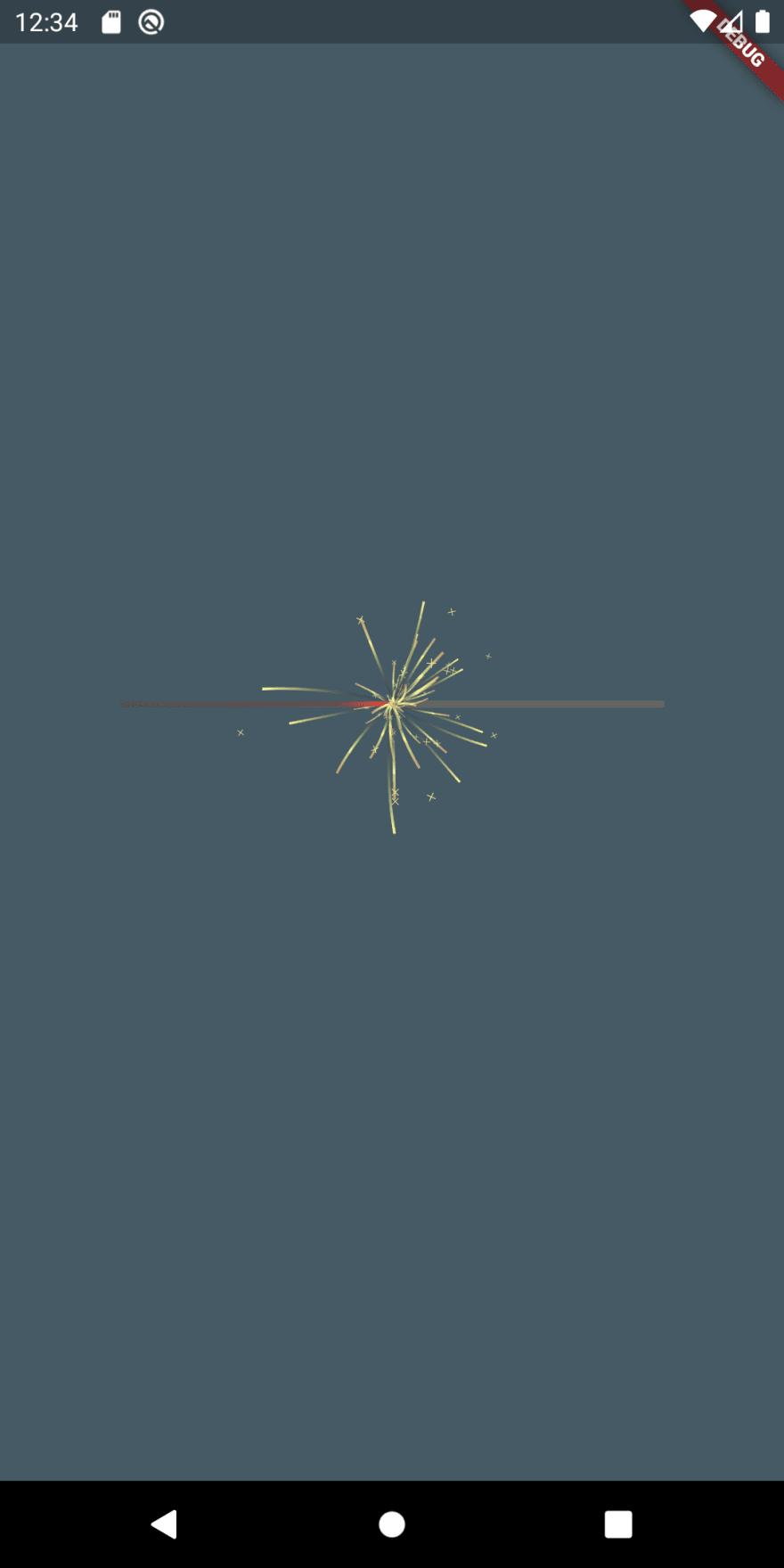 Flutter sparkler iteration 5
