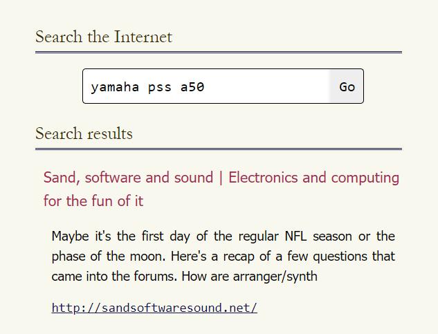 Marginalia search results