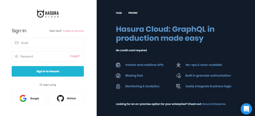Login - Hasura Cloud and 2 more pages - Work - Mic