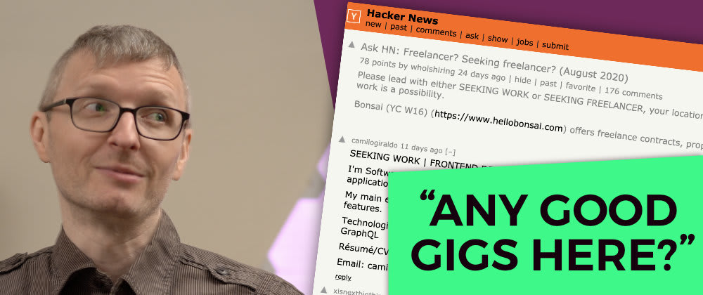 Cover image for HackerNews' Freelancing Thread: Is it good for new web devs?