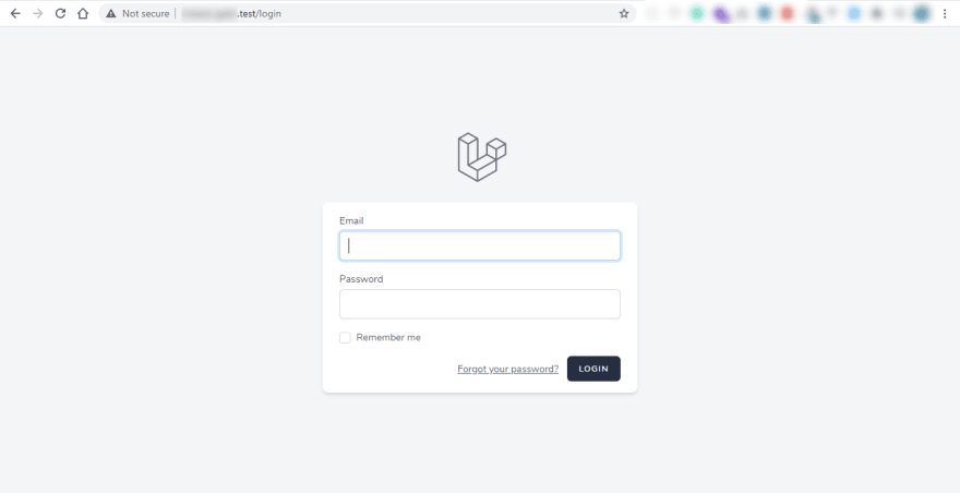 laravel breeze login page