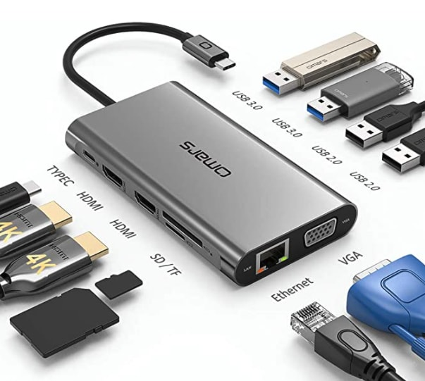Mac docker including MicroSD Card reader