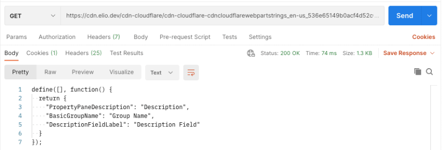 Getting your file contents via Cloudflare without providing the SAS Token