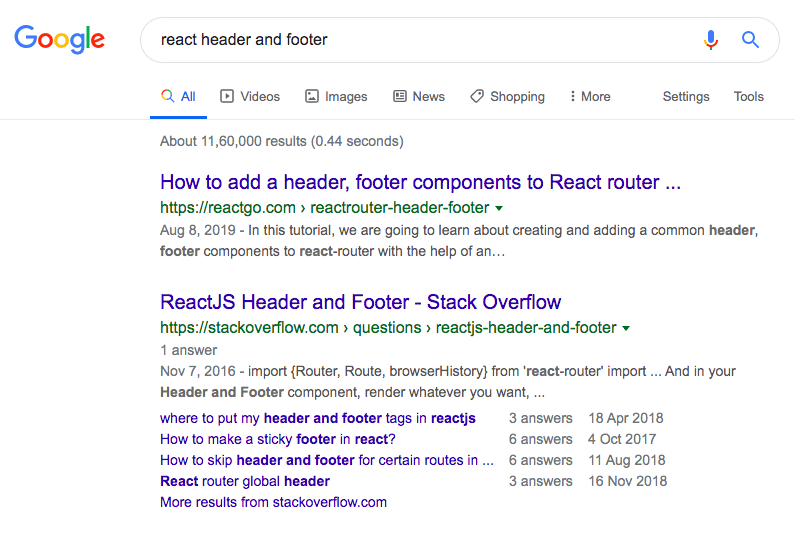 reactgo.com react header footer post