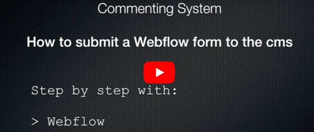 Cover image for How to submit a Webflow form to the Webflow CMS