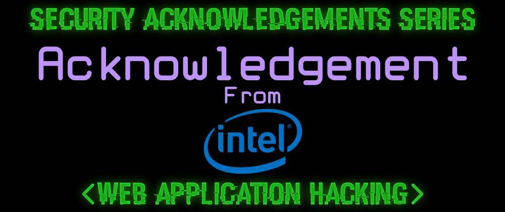 Cover image for Acknowledgement From Intel
