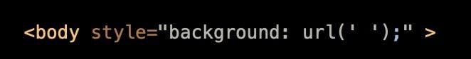 Incorrectly set background URL