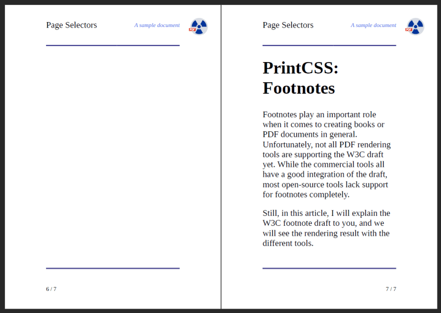 Left Page without Content