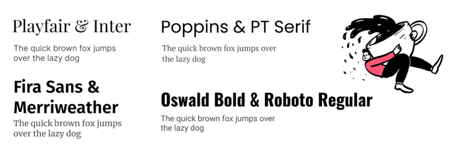 Examples of font pairings that look great together