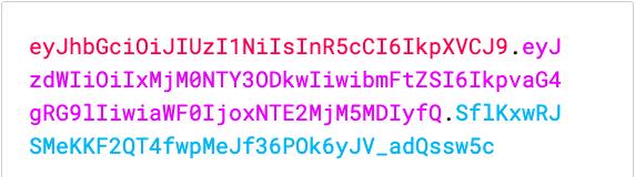 JSON Web Token example