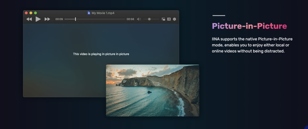 Cover image for IINA : The modern media player for macOS with Picture-in-Picture mode and Browser Extension