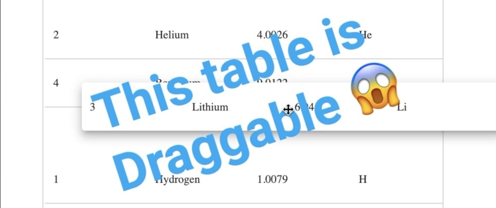 Cover image for Draggable Table with Angular CDK