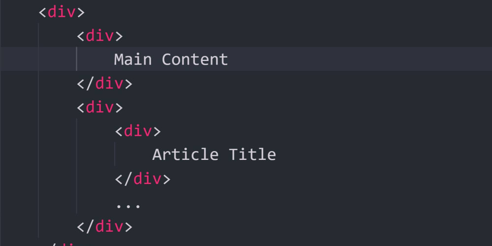 Ditch the dreaded <div />. Semantic HTML elements we should use instead