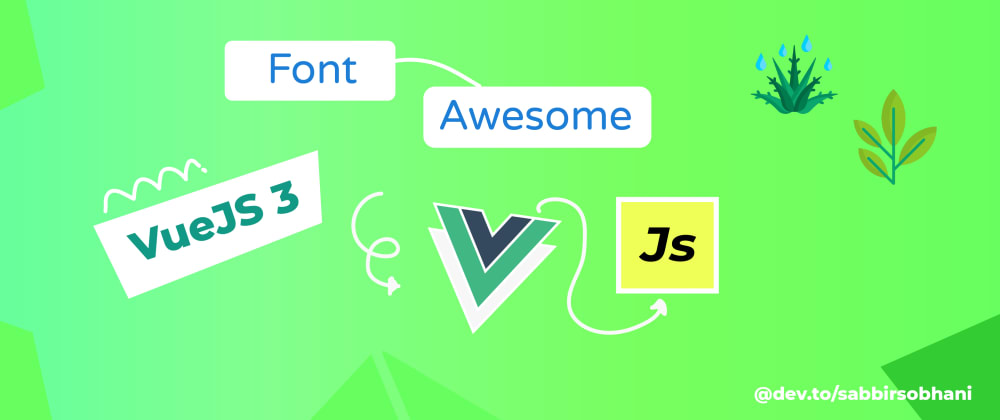 Cover image for Font Awesome with VueJS 3