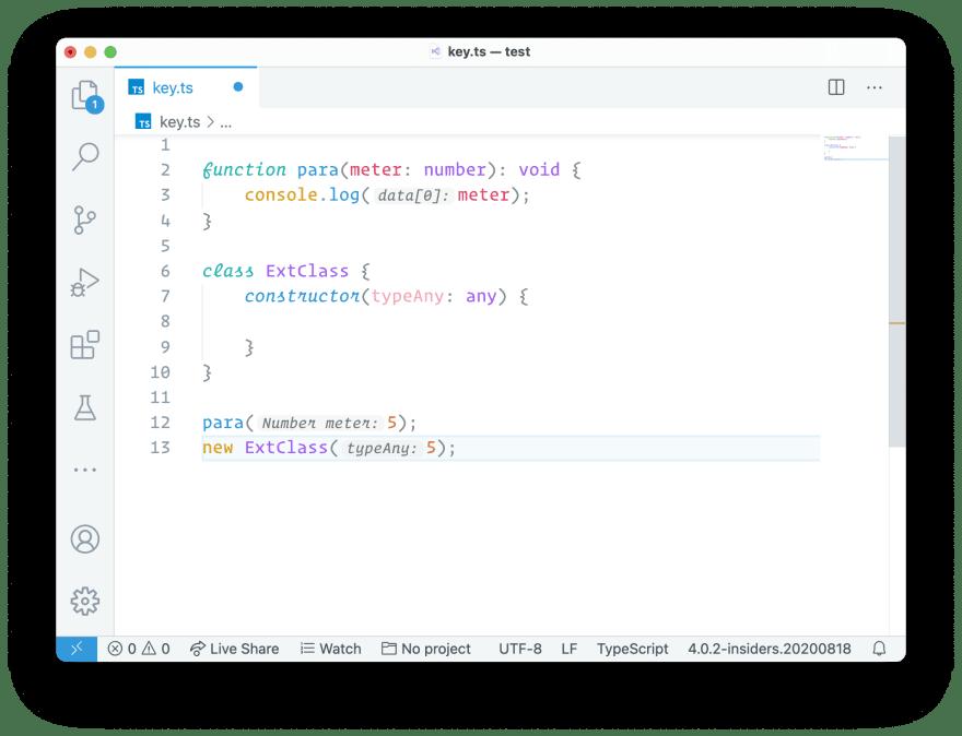 Parameter Hints for VS Code