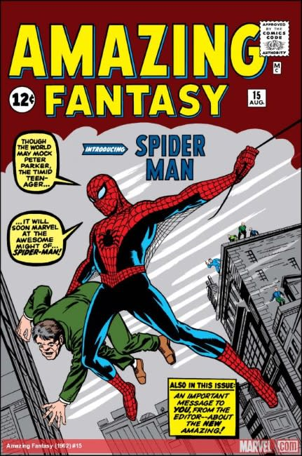 Spider-Man comic cover from 1962