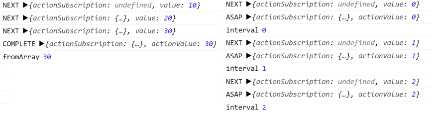 Log output, asynchronous code logs ASAP