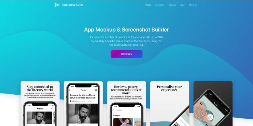 AppMockUp landing page