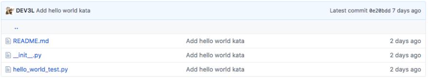 Hello World Kata Template
