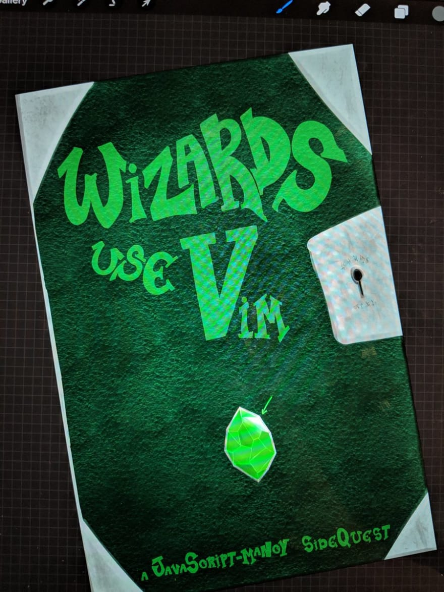 Wizards Use Vim Cover Art Draft 2