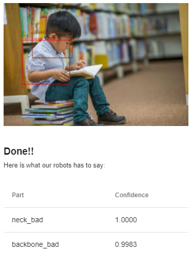 Kid reading book with bad posture