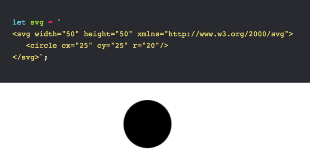 Using a string of SVG text as an image source - DEV