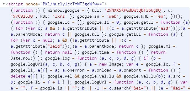 Inline scripts