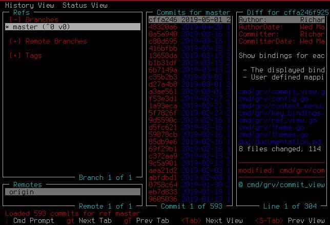 GRV on a terminal