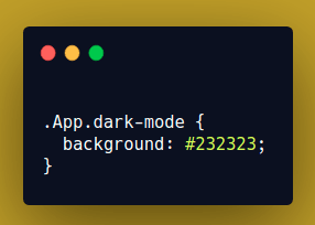 CSS for App