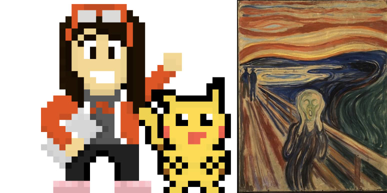 2 side by side images, 1 is the Scream