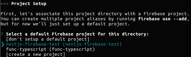Set your Firebase project