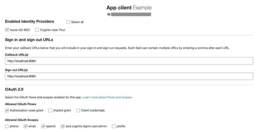 App client settings