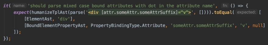 All I need to cover my changes is one line test