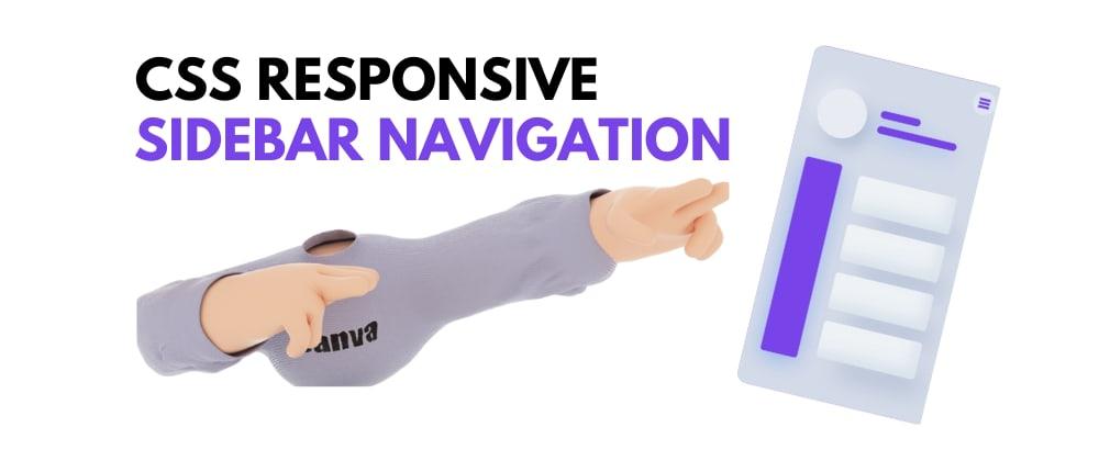 Cover Image for 🔵 CSS Responsive Sidebar Navigation.