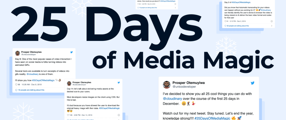Cover image for 25 Days Of Media Magic - The Ambitious Sprint