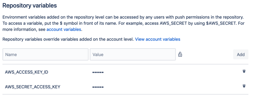 Automating AWS Lambda deployments using Bitbucket Pipelines and