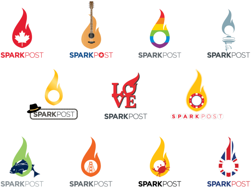 SparkPost city and event stickers
